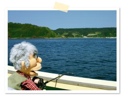 この日は戸賀湾内での釣りじゃ