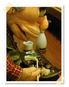 福の家に来て忘れてならないのが名物「棒アナゴの炙り焼き」