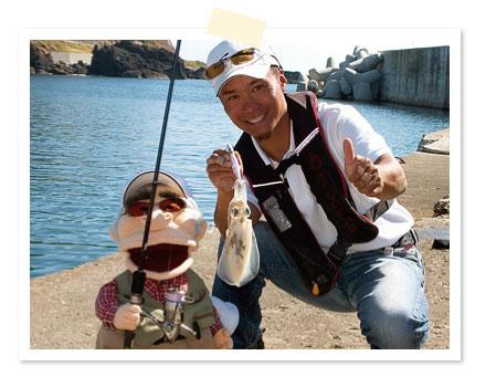 イカはエサにも魚(イカ)にも触らないでイイという女性にオススメの釣りじゃよ